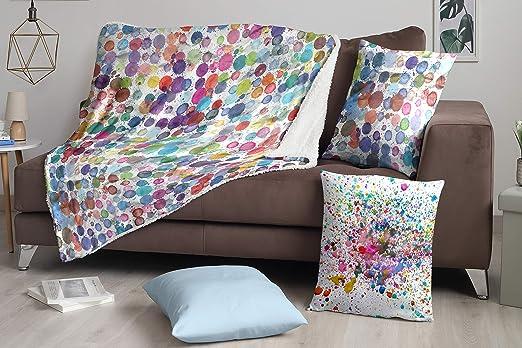 DHestia Manta de Sofá, Multicolor, 160x130 cm: Amazon.es: Hogar