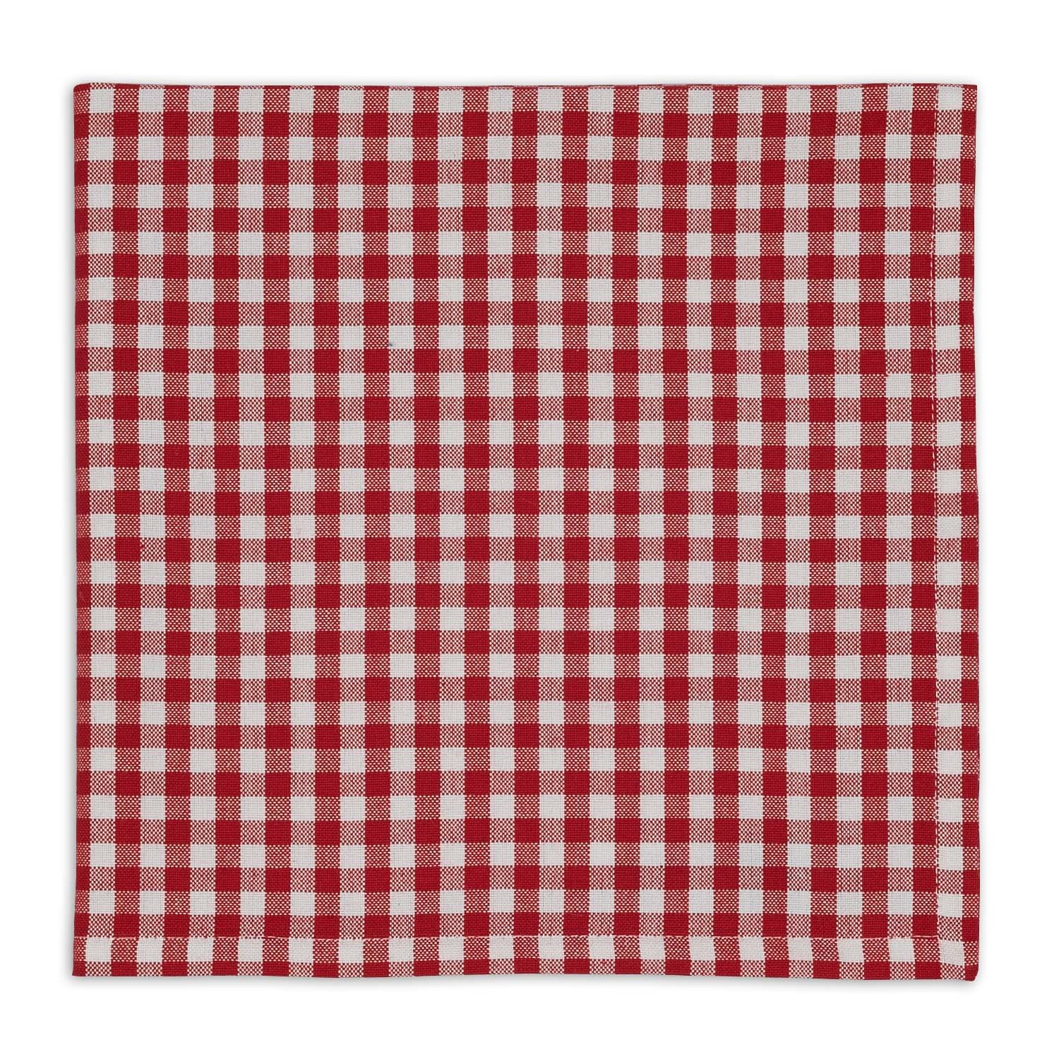 DII Oversized 20x20'' Cotton Napkin, Pack of 6, Tango Red Check - Perfect for Fall, Thanksgiving, Dinner Parties, Farmhouse Décor, Christmas or Everyday Use