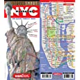 Street Smart NYC Map Midtown Edition by Van Dam-Laminated pocket city street map of Manhattan w/ all attractions, museums, si