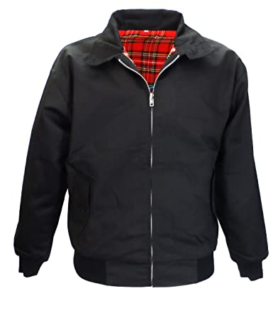 Mens Black Relco Harrington Jacket - Size L