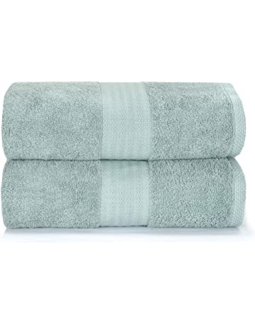 MBS Pack of 4 Bath Sheets 100/% Cotton Bathroom Gift Set 80x150 cm Soft Large Bath sheets Blue
