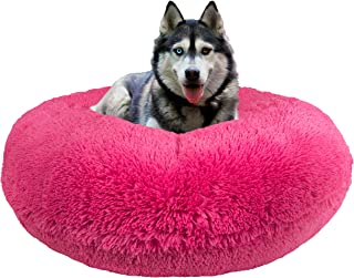 product image for Bessie and Barnie Signature Lollipop Luxury Shag Extra Plush Faux Fur Bagel Pet / Dog Bed (Multiple Sizes)