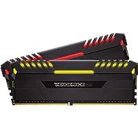 Corsair CMR16GX4M2A2666C16 Desktop Memory Vengeance RGB 16GB, 2 x 8GB, DDR4 2666 MHz, Black