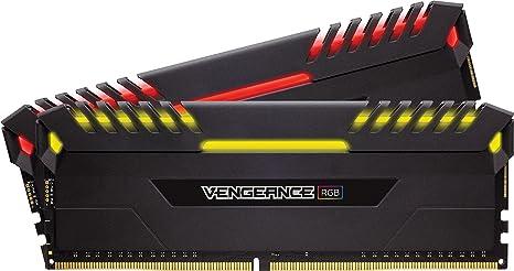 Corsair Vengeance RGB - Kit de memoria Entusiasta de 16 GB (2 x 8 GB, DDR4, 3200 MHz, C16 XMP 2.0) negro