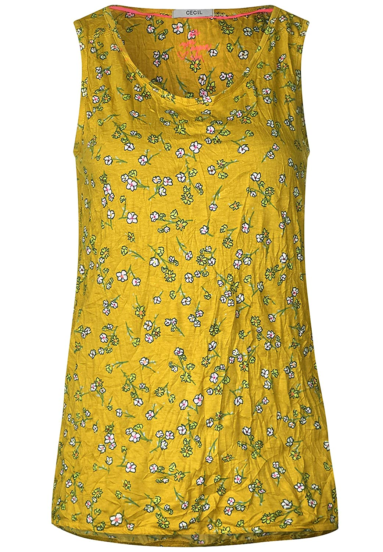 CECIL Blumen Print Shirt in Ceylon Yellow