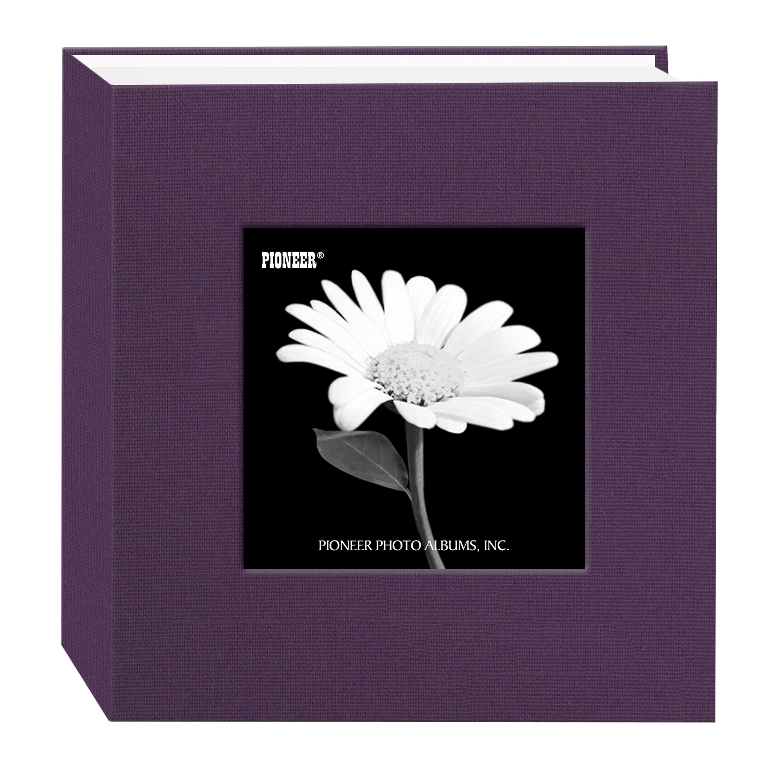 Pioneer 100 Pocket Fabric Frame Cover Photo Album, Wildberry Purple by Pioneer Photo Albums