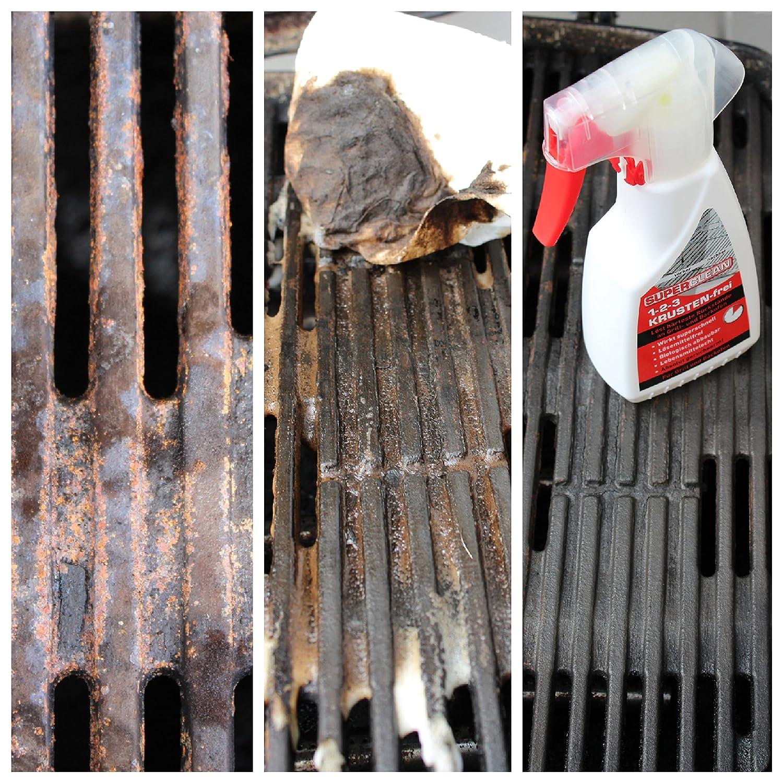 Barbacoa y horno limpiador 1 - 2 de 3 gratinados libre de 250 ml spray. Efecto Completo y schonend. löst eing ebranntes y härteste verkrustungen en el horno ...