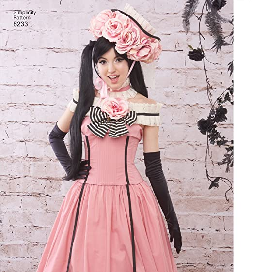 Simplicity 8233 Misses/' Anime Corset Dress Costumes   Sewing Pattern