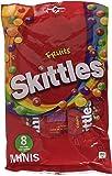 SKITTLES Bonbons Dragéifiés Fruits 8 Mini Sachets 208 g - Lot de 6