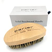 Parker's Natural Beechwood Boar Bristle Beard Brush & Hair Brush - Ergonomic Handle - Packaged in a Gift Box too - An Essential Men's Grooming Tool