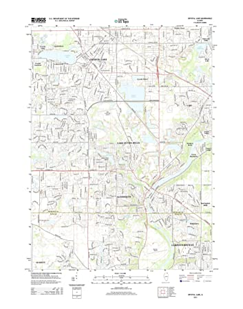 Crystal Lake Illinois Map.Amazon Com Topographic Map Poster Crystal Lake Il Tnm Geopdf 7 5