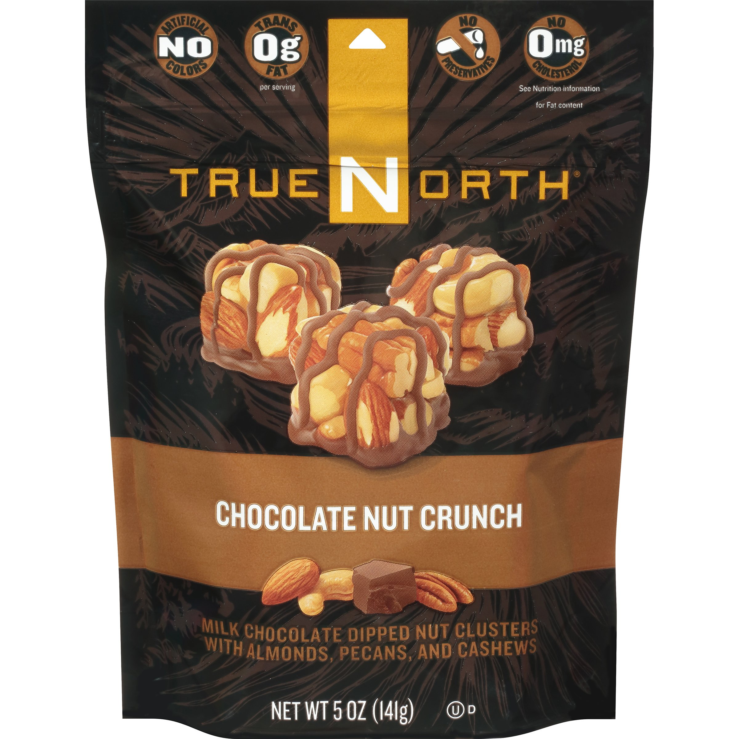 TrueNorth Nut Clusters, Chocolate Nut Crunch, 5 Ounce (Pack of 6)