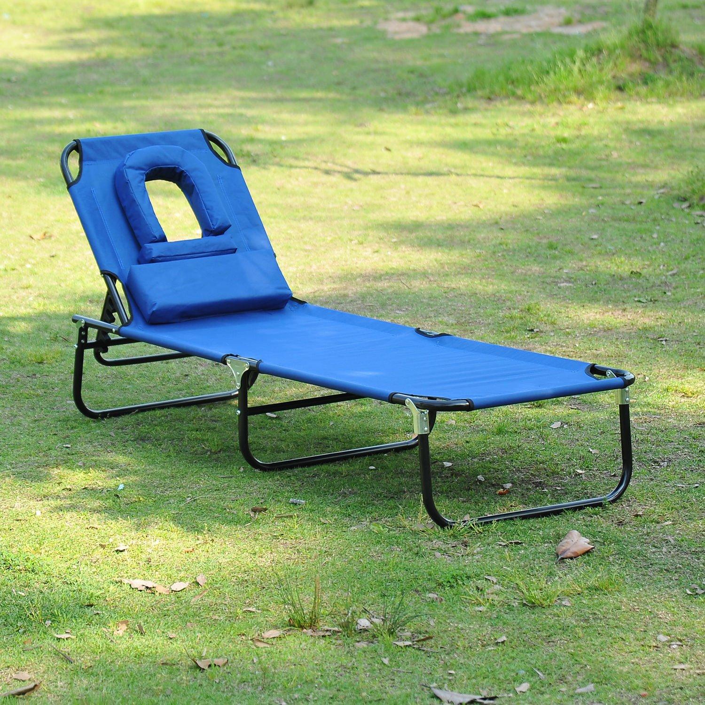Chaise Transat Homcom Pliante Lecture Longue De Jardin Pour Bleu Bain Soleil bfgy76