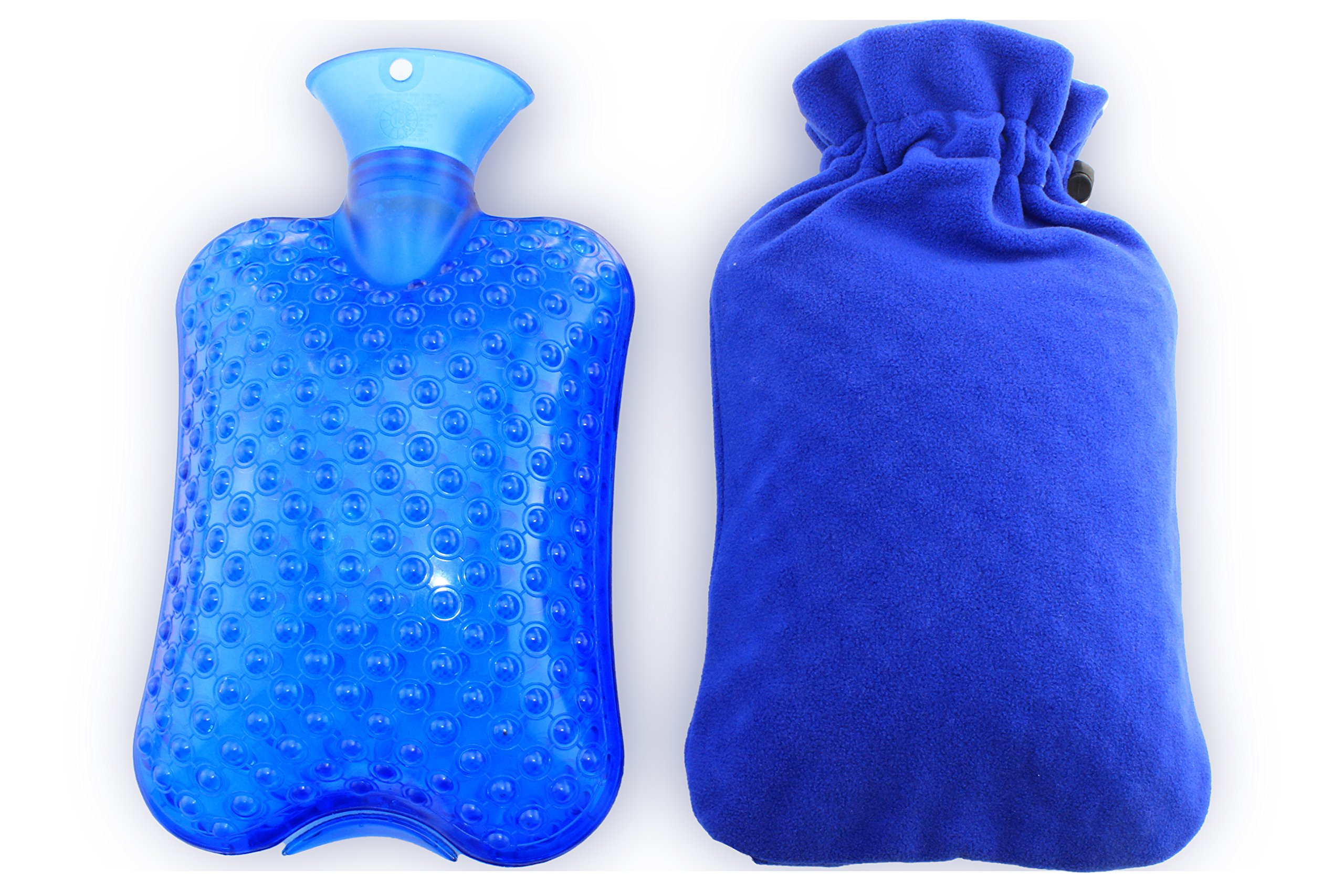 KOODER Hot Water bottle,Slow down the symptom of dysmenorrhea,warm your stomach,Winter heating products! 2L(Blue)