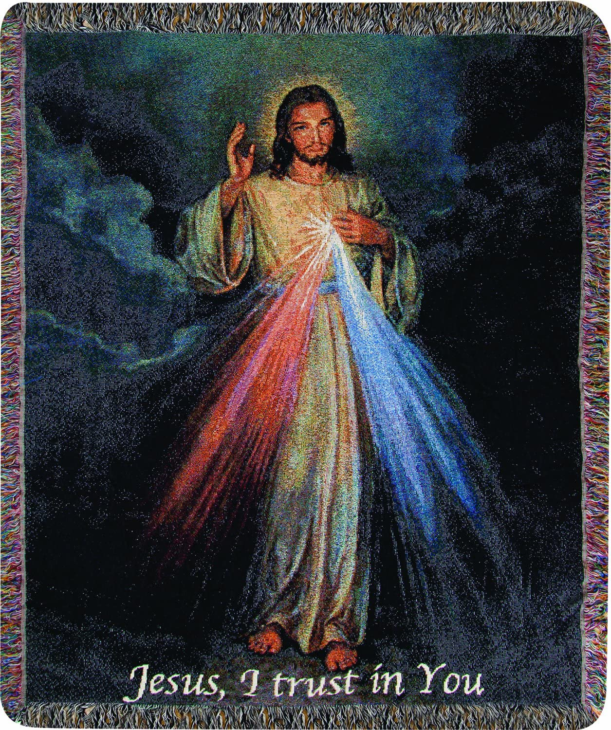 Tapestry Throw, The Divine Mercy