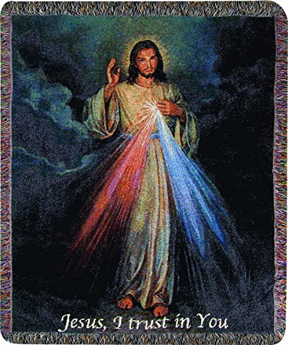 Manual Inspirational Collection 50 x 60-Inch Tapestry Throw, The Divine Mercy,