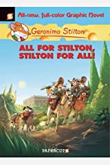 Geronimo Stilton Graphic Novels #15: All for Stilton, Stilton for All! Kindle Edition