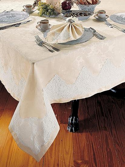 Leilani Tablecloths, Eggshell (70u0026quot; X ...