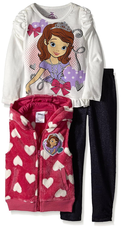 Disney Girls 3 Piece Sofia The First Legging Set