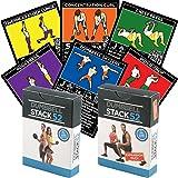 Mancuernas Ejercicio Tarjetas por Fuerza Stack 52. mancuernas (Playing Card Game. Vídeo Incluye instrucciones. Perfecto para entrenamiento con mancuerna ajustable (libre de peso Juegos y gimnasio y fitness en Casa.