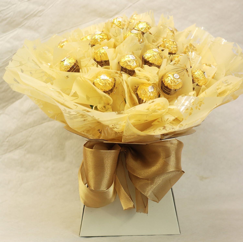 Ferrero rocher chocolate bouquet with 40 chocolates amazon ferrero rocher chocolate bouquet with 40 chocolates amazon grocery izmirmasajfo Images
