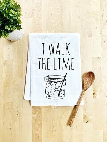 Flour Sack Kitchen Towel Farmhouse Kitchen Decor I Walk The Lime Funny Dish Towel White Sweet Housewarming Gift