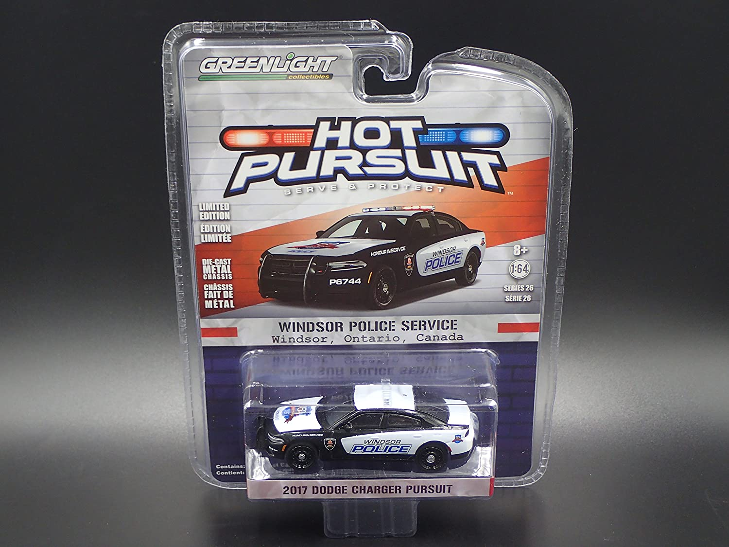 Greenlight 1 64 Hot Pursuit Series 26 2017 Dodge Charger Pursuit Windsor Police