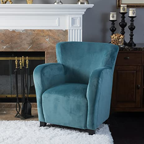 Beau Ashlin Blue New Velvet Wingback Chair