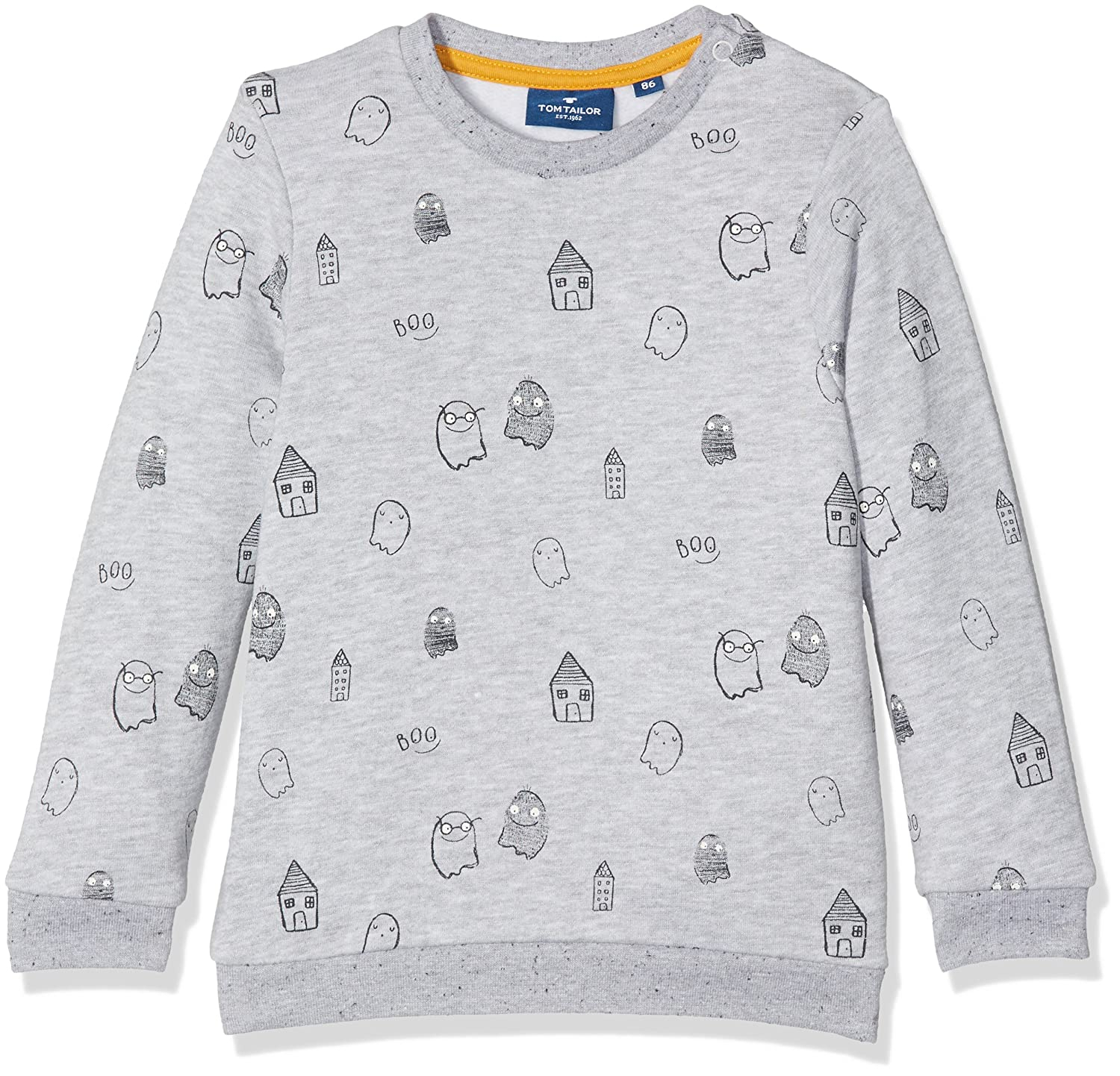 TOM TAILOR Kids Baby Boys' Ghost Pattern Sweatshirt 25313840022