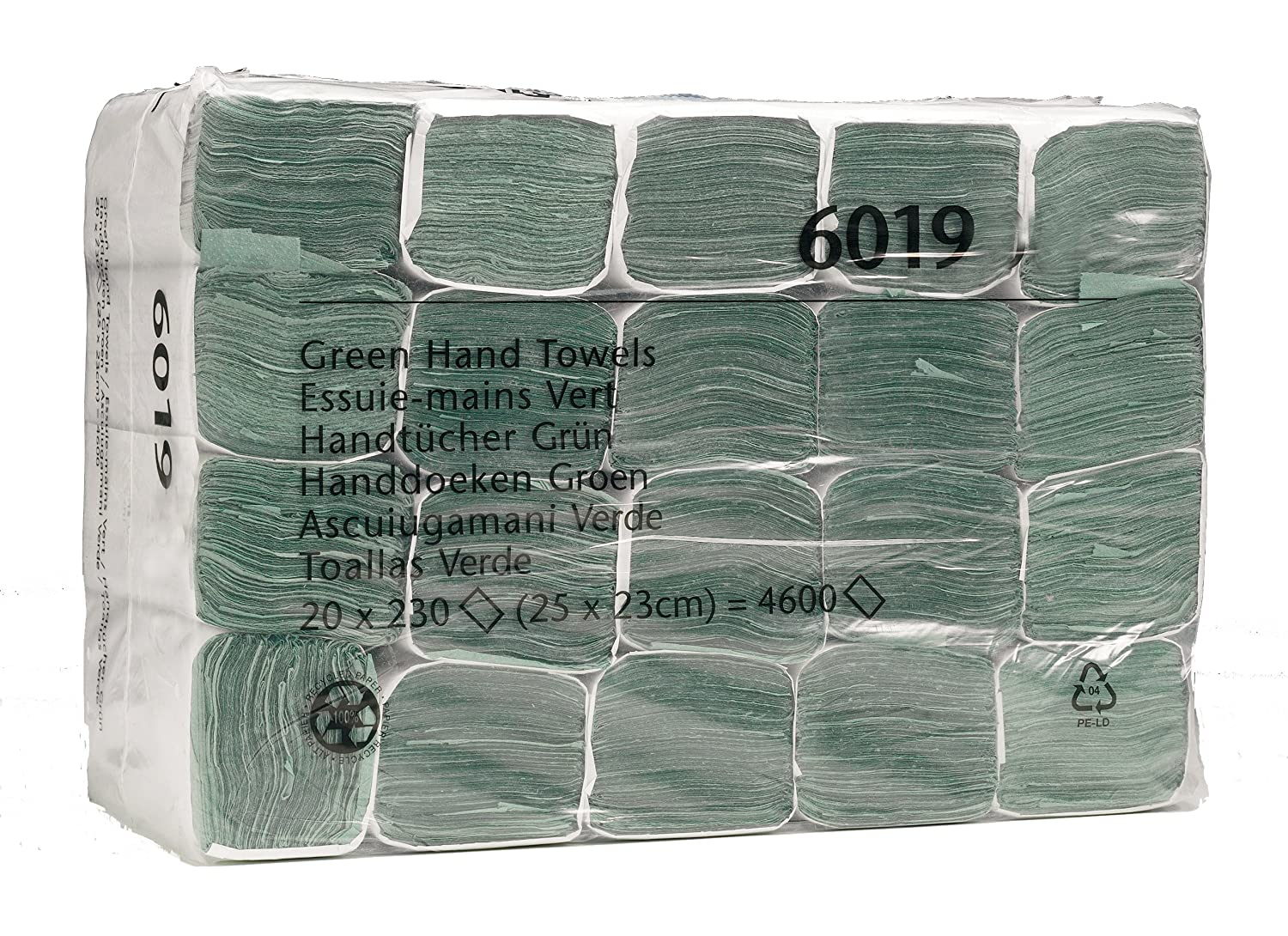 SCOTT* Z-Folded Hand Towels 6019 - 230 green, 1 ply sheets per pack (case contains 20 packs) Kimberly-Clark Professional (EU)