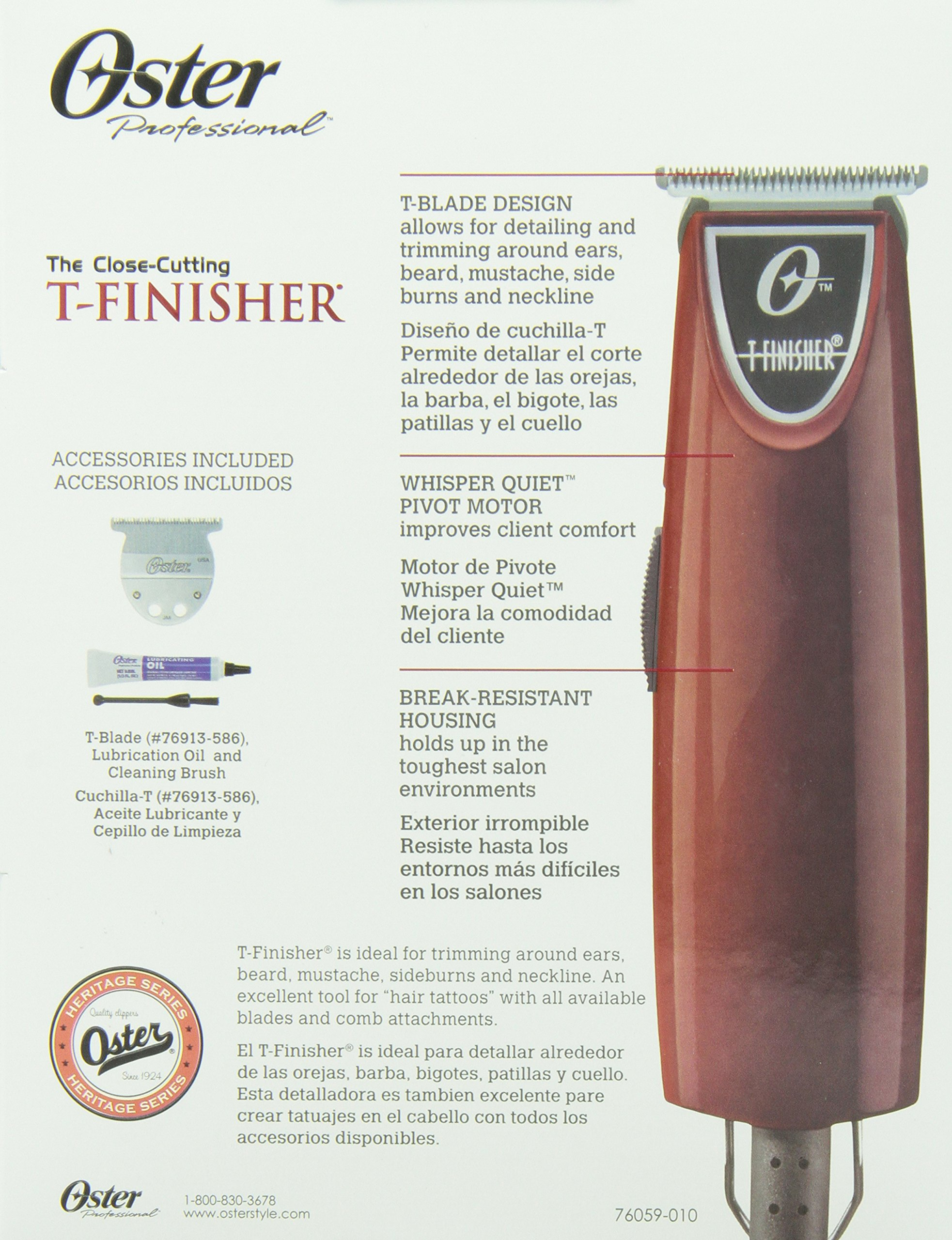 Oster Ac T-finisher Trimmer # 76059-010 by Oster (Image #4)