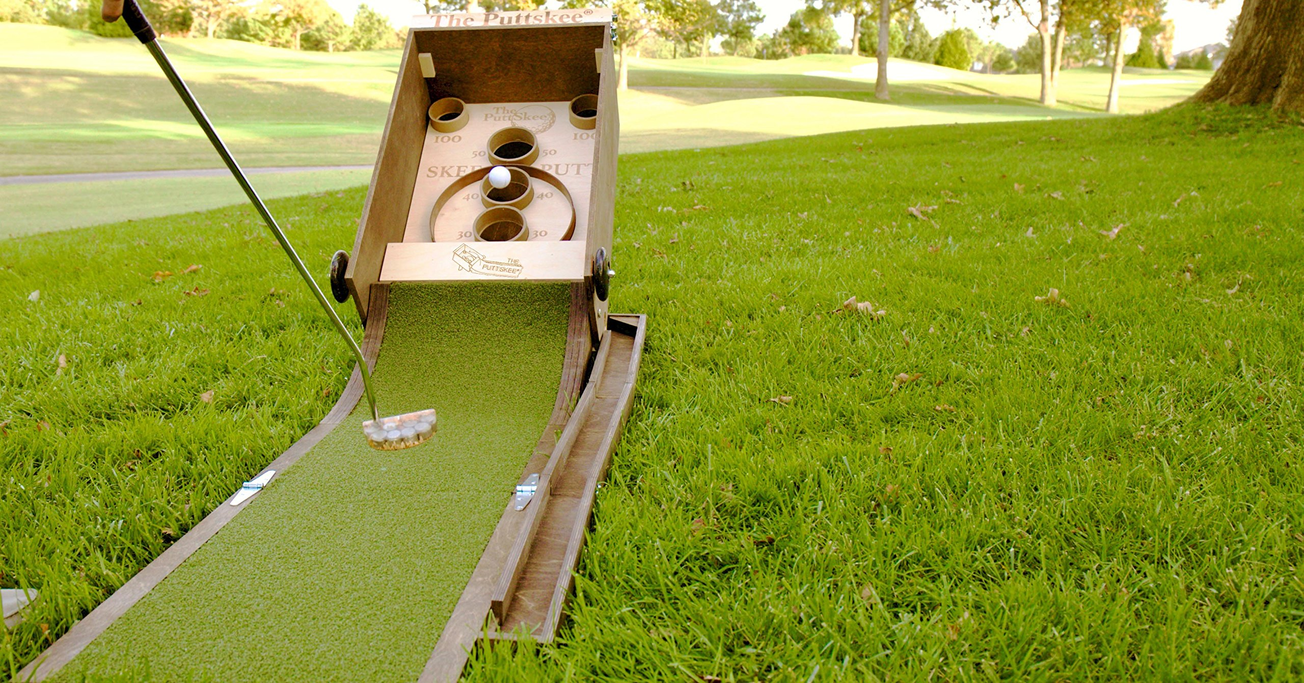 The Puttskee - Putting meets the arcade to bring you the premium in portable putting!! (Handcrafted in America)