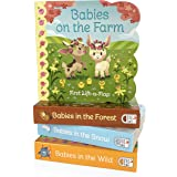 4 Pack Baby Animals Lift-a-Flap Board Books