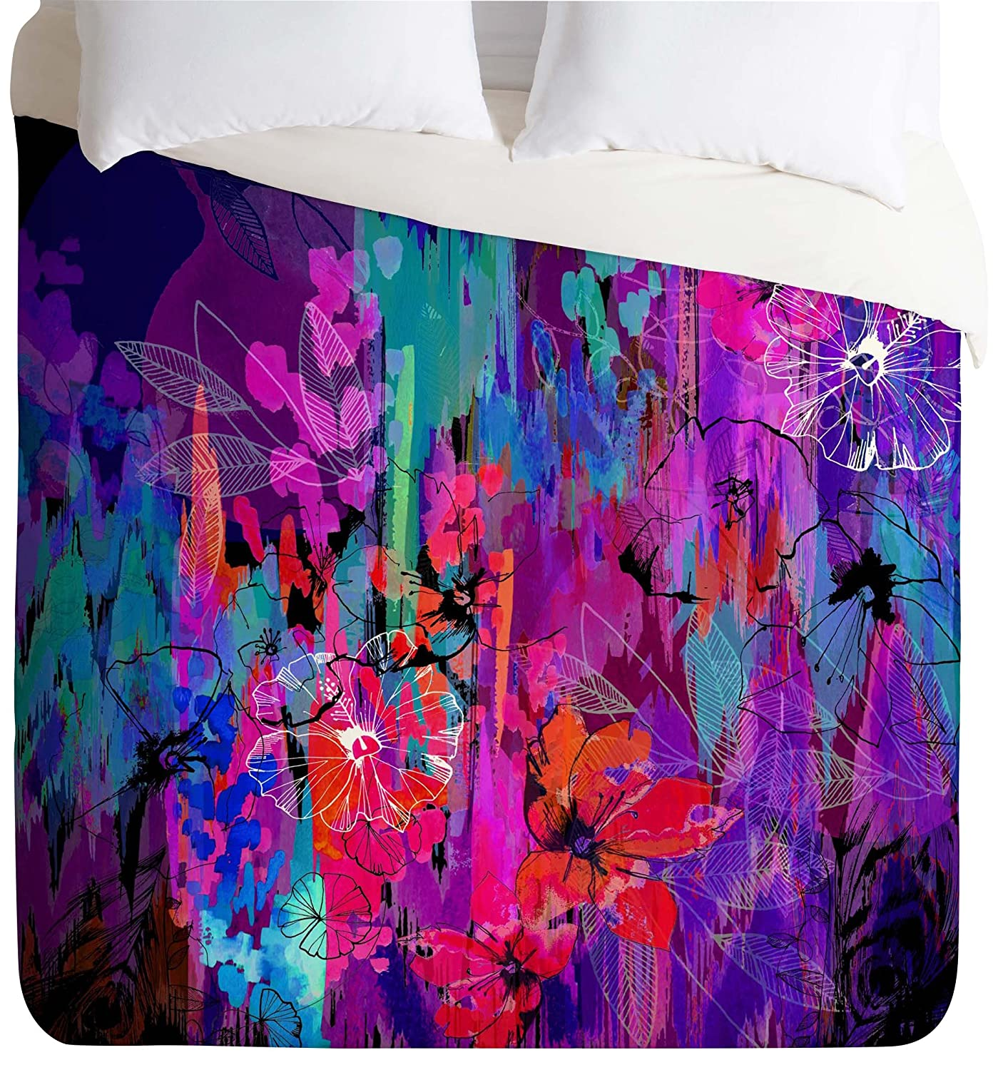 After the Storm Twin Twin XL Deny Designs  Holly Sharpe Tropical Girl Colourway Duvet Cover, Queen