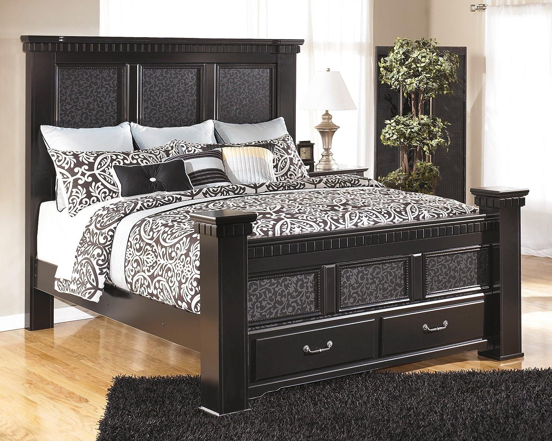 Nice Cavallino Bedroom Set Part - 7: Amazon.com - Ashley Furniture Signature Design - Cavallino Mansion  Headboard - Classic Style Bed Set - Headboard Only - King Or California  King Size - Black ...