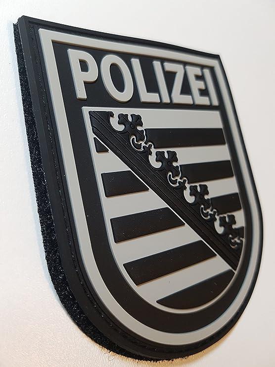 Atg Ärmelabzeichen Polizei Sachsen 3 D Rubber Patch Blackops Auto