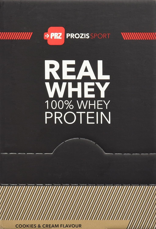 Prozis Sport 10 x Sachet 100% Real Whey Proteínas Cookies and Cream - 25 gr - [paquete de 5]