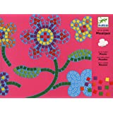 Djeco - Juego de diseñar con mosaicos, diseño de flores