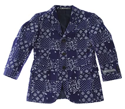 5564bd47d Amazon.com: Hickey Freeman Boy's Floral/Dot Printed Blazer Navy ...