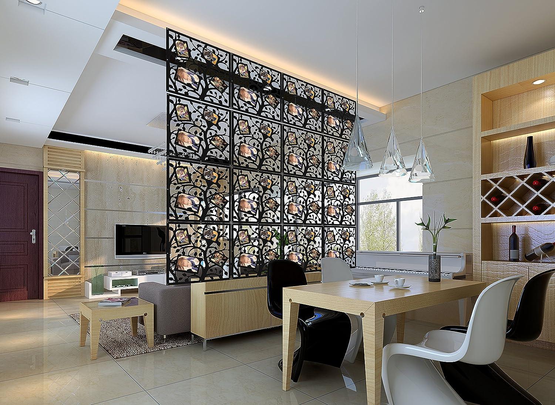 Foto   Album Raumteiler Paravent Raumteiler Raumtrenner, KERNORV Room  Divider Panel Curtain PVC Holz Plastik Trennwand Home Dekoration Für  Wohnzimmer ...