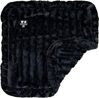 """product image for BESSIE AND BARNIE Black Puma Luxury Ultra Plush Faux Fur Pet, Dog, Cat, Puppy Super Soft Reversible Blanket (Multiple Sizes), """"xl - 56"""""""" x 56"""""""""""" (BLNKT-BP-XL)"""