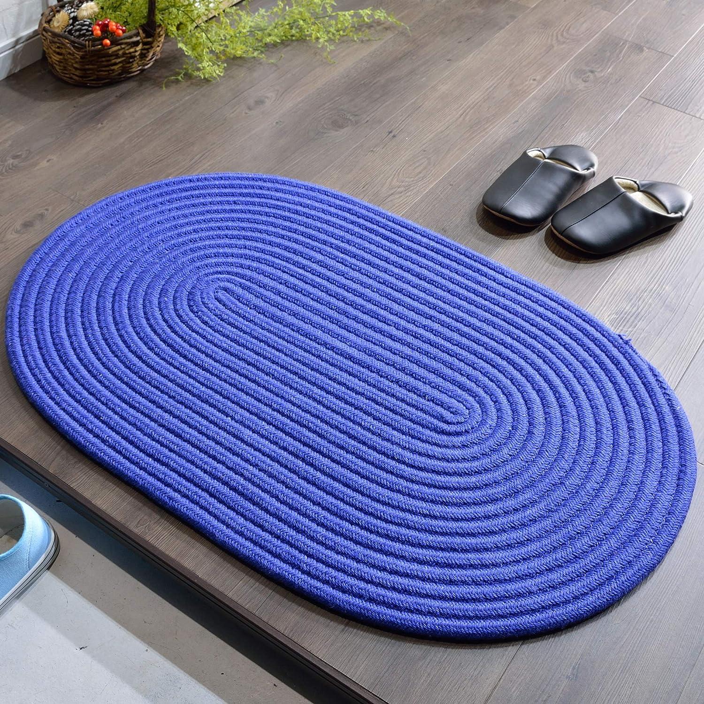 ラグマット 2畳 チューブ 北欧 屋内 室内 おしゃれ ブルー 130x190cm B07KZNCDWB ブルー 130x190cm