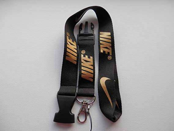 Amazon.com: Nike Lanyard Llavero Negro y Dorado