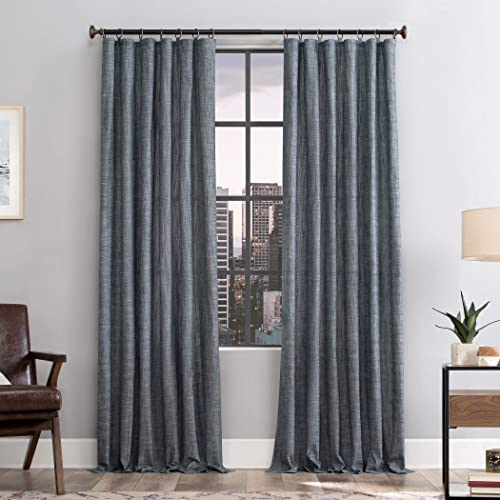 Scott Living Delton Stonewashed Cotton Semi-Sheer Ring Top Curtain Panel