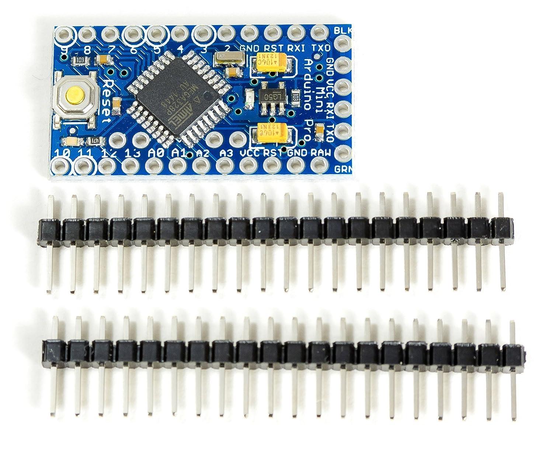 PRO Kompatibeler Microcontroller Mini ATmega328 16MHz Blue 5 V for Arduino Prototyping MissBirdler 4260509785280