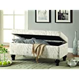Coaster Home Furnishings 500986 Transitional Bench, Off White/Grey