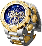 Invicta Men's Reserve Silver and Gold Quartz Watch with Stainless-Steel Strap, Two Tone, 30 (Model: 21605)