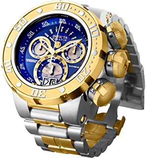 Invicta Mens Reserve Silver and Gold Quartz Watch with Stainless-Steel Strap, Two Tone