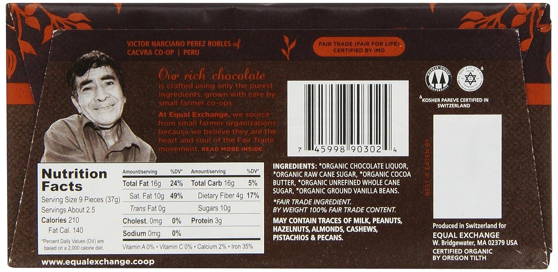 Amazon.com : Equal Exchange Organic Very Dark Chocolate Bars, 2.8 ...
