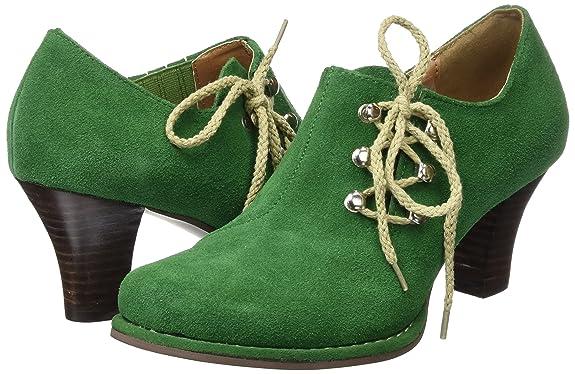 Andrea Conti 3595308, Zapatos de Tacón con Punta Cerrada para Mujer, Verde (Tanne), 36 EU